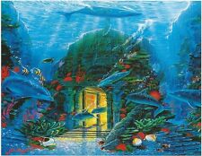 Undersea House Sanctuary Dolphin Ocean Sea 500 pc Bagged Boxless Jigsaw Puzzle