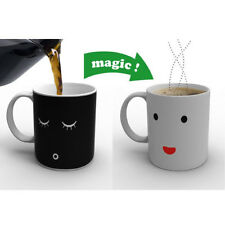 New Morning Ceramic Coffee Cup Smilling Face Color Changing Mug Cup