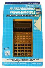 NEW 80s CASIO FX-3800G GRAPHING SCIENTIFIC COMPUTER CALCULATOR UNTESTED NOS NIP