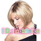 New lady Short Straight Blonde Mixed Cosplay women party lady's wigs + wig cap