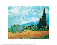 """Yellow Wheat and Cypresses"" by Vincent van Gogh  - Fine Art Print 8 x 10"