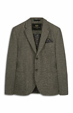 MENS FARRELL GREY TEXTURED WOOL BLAZER JACKET BRITISH VINTAGE GENUINE BNWT XL