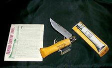 "Opinel Knife #8 Early Winter Edition 4-1/4"" France 1970's W/Packaging,Papers"