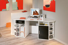 Schreibtisch Eckschreibtisch weiß schwarz Computertisch PC-Tisch Büro Büromöbel