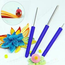 3pcs/Set Paper Quilling Steel Needle Slotted Pens Set DIY Handcraft Origami Tool