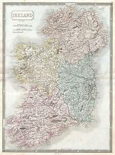 1850 HALL MAP IRELAND VINTAGE REPRO POSTER ART PRINT 2892PYLV