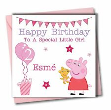 Personalised Peppa Pig Girl Daughter Granddaughter 1st 2nd 3rd 4 5 Birthday Card