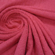 Fabric Per Metre Cotton Terry Cloth Frotte double-pile fuchsia pink soft