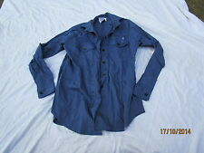 Camicia Womans Lavorando Dress,Royal Navy,Cotone FR,blu Camicia,Tgl 35/96