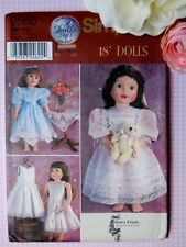 "Simplicity 9560 5428 18"" Doll Girl Pattern Vintage Dress Clothes Susan Payne"