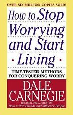 HOW TO STOP WORRYING AND START LIVING   -Dale Carnegie-    PAPERBACK ~ NEW