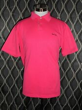 PAUL SMITH London Polo Shirt Coral Pink Solid Short Sleeve Cotton Size XL NEW
