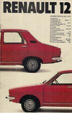 Renault 12 1978-79 French Market Sales Brochure Base TL TS Auto Saloon Estate