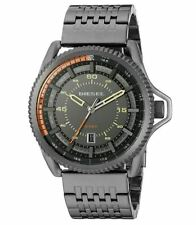 Diesel DZ1719 Rollcage Three Hand Gunmetal Stainless Steel Men's Watch NWT