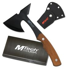 Mtech USA Small Throwing Fixed Blade Black Axe Hunting Hatchet Survival Tactical