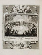 1728 Kupferstich Demarne Bibel Biblia Buch mit den sieben Siegeln Offenbarung