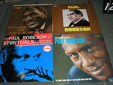 LOT OF 4 PAUL ROBESON LP'S-EVENING WITH-SPIRITUALS-GLORIOUS VOICE OF ETC