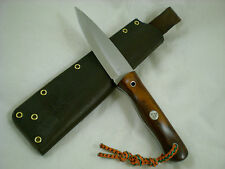 "Triple-X Knives One Off Custom ""Snake Eyes"" Bush Knife, CANX60 Steel, Snakewood"