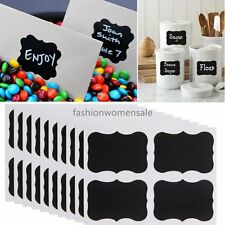 36x Chalkboard Blackboard Chalk Board Stickers Craft Kitchen Jar Labels QT