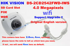 Hikvision Original English DS-2CD2542FWD-IWS 4MP CCTV IP POE Network wifi Camera