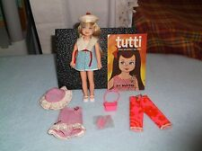 VINTAGE MATTEL BLONDE TUTTI DOLL OUTFITS SHOES COMB & BRUSH ACCESSORY LOT