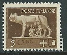 1929-42 REGNO IMPERIALE LUPA 5 CENT MNH ** - IM08