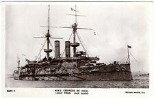 R.P. POSTCARD H.M.S. EMPRESS OF INDIA-SUNK IN LYME BAY 1913-ROTARY PHOTO 3929 A