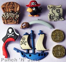Pirates-Treasure Chest MONETE D'ORO NAVE MAPPA Cornovaglia Dress IT UP Pulsanti Craft