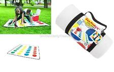 """TWISTER Classic Game Licensed 67"""" Fleece PICNIC BLANKET GAME w/ KeyChain SPINNER"""