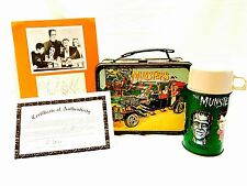1965 THE MUNSTERS Lunchbox, Autograph With COA, Complete Set, One Owner, WOW!!!!
