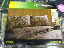 Remington Camouflage Bed Sheets & Pillowcase Set King Size, 1 Flat, 1 Fitted