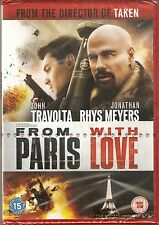 FROM PARIS WITH LOVE - John Travolta, Jonathan Rhys Meyers (NEW/SEALED DVD 2010)