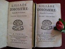 L' ILIADE D' HOMERE: : NOUVELLE TRADUCTION COMPLETE  en DEUX  VOLUMES ....1681