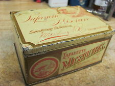 tobacco tin LAFAYETTE MIXTURE SMOOKING  HINGED LID MA RBURG BROS BALTIMORE MD