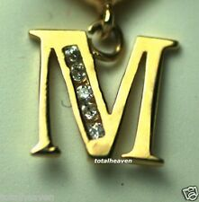 "NEW Initial "" M "" 14K Yellow Gold Belly Navel Ring $149"