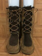 RARE❤️ UGG Australia Uptown Lace Up Tall Boots Whitely Brown Tan 5278 Sz 5 GUC
