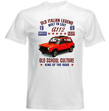 VINTAGE ITALIAN CAR AUTOBIANCHI A112 1969 - NEW COTTON T-SHIRT