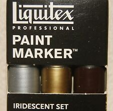 New 3 Pc Liquitex Professional Paint Marker Iridescent Set Made in France
