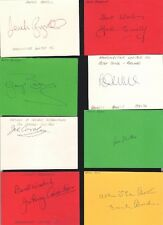 Signed card by JOE CAROLAN the Manchester United Footballer