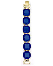 LAUREN Ralph Lauren Faceted Blue Resin Stone Gold-Plated Flex Bracelet