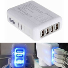 White AU AC 2.1A 4 Port USB Home Travel Wall Charger for iPhone Tablet Samsung