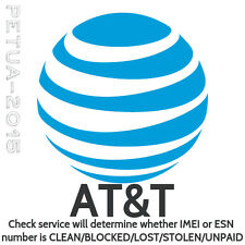 Check US AT&T Carrier ESN/IMEI | Clean | Blocked | Lost | Stolen | Unpaid