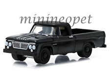 GREENLIGHT 27790A 1963 63 DODGE D-100 PICK UP TRUCK 1/64 BLACK BANDIT