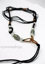 Scaleable Chinese BLACK String Necklace Thread Pendant Jade Making Bead Gemstone