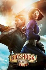 BIOSHOCK INFINITE ~ BOOKER & ELIZABETH ~ 24x36 Video Game Poster ~ NEW/ROLLED~
