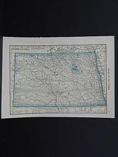 Maps, Small, c. 1910, Double Sided U.S.A. #17 North Dakota, South Dakota