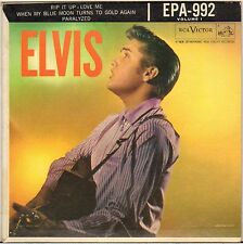 "RARE ELVIS PRESLEY ""RIP IT UP"" USA 50'S EP RCA VICTOR EPA-992, 2eme LABEL !"