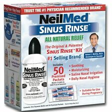 NeilMed Sinus Rinse Natural Relief Kit with 50 Premixed Sachets EXP 06/2018