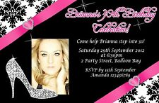 Personalised 21st 30th 40th 50th Adult Ladies Teen Birthday Invitations invites