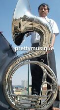 "SOUSAPHONE BIG 25"" BELL OF PURE BRASS IN CHROME + MOUTHPC + CASE BOX + ACCESSORY"
